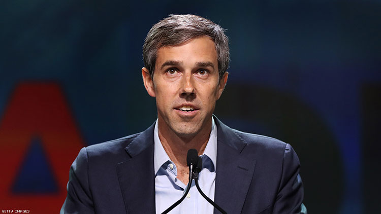 Beto O'Rourke celebrates Pride month by unveiling LGBTQ+ campaign policy promises.