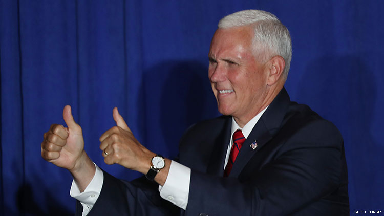 Mike Pence attends Trump fundraiser at gay-owned Caribou Club in Aspen, Colorado.