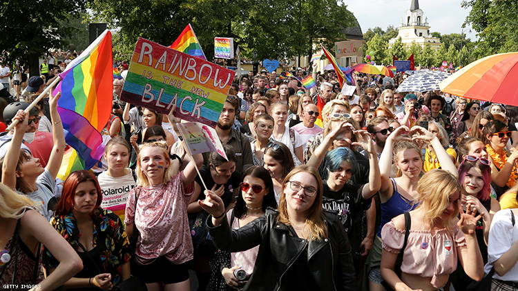 Police detain 25 in Poland after attacks on Bialystok LGBTQ+ equality march.