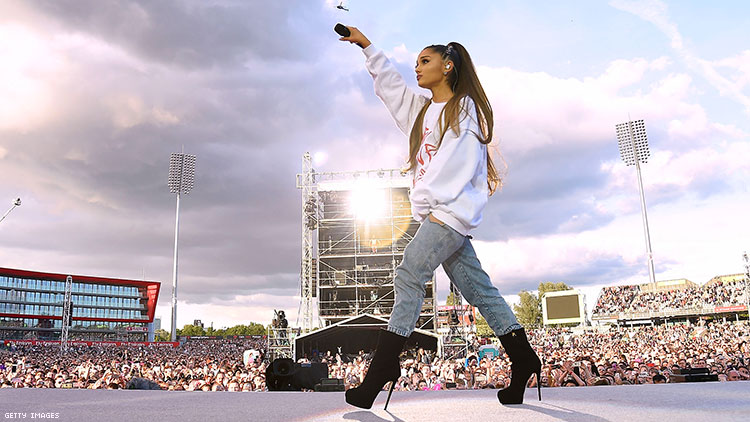 Ariana Grande Honors Bombing Victims at Manchester Pride