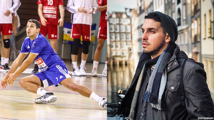 Puerto Rican native Dennis Del Valle is the first major mens sports player to come out as gay; he plays volleyball for Lucerne