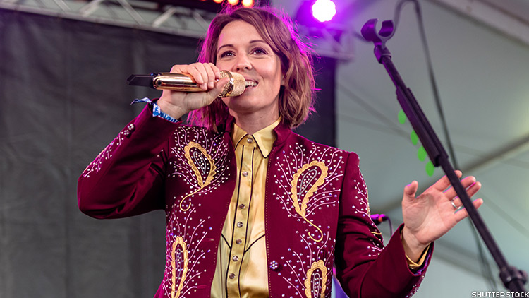 Brandi Carlile in a performance.