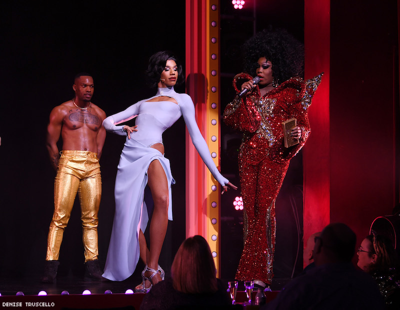 Naomi Smalls and Asia O'Hara during RuPaul's Drag Race: Live in Las Vegas.