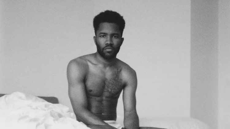 Frank Ocean shirtless on the cover art for his new single.