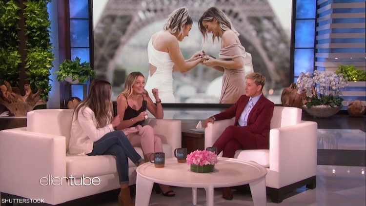 Tremendous Ellen Surprised Lesbian Couple After Parents Wouldnt Attend Ocoug Best Dining Table And Chair Ideas Images Ocougorg