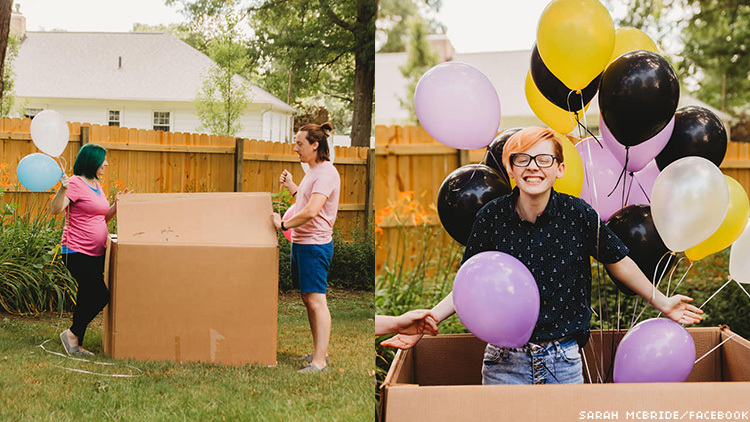 Mother Hosts Gender Reveal for 17-Year-Old Nonbinary Child