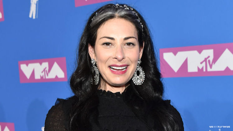 Stacy London on a red carpet.
