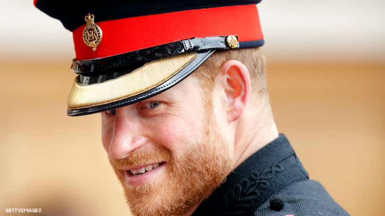 Prince Harry in his Royal navy gear.