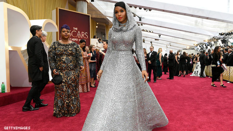 Janelle Monae on the red carpet for the 2020 Oscars