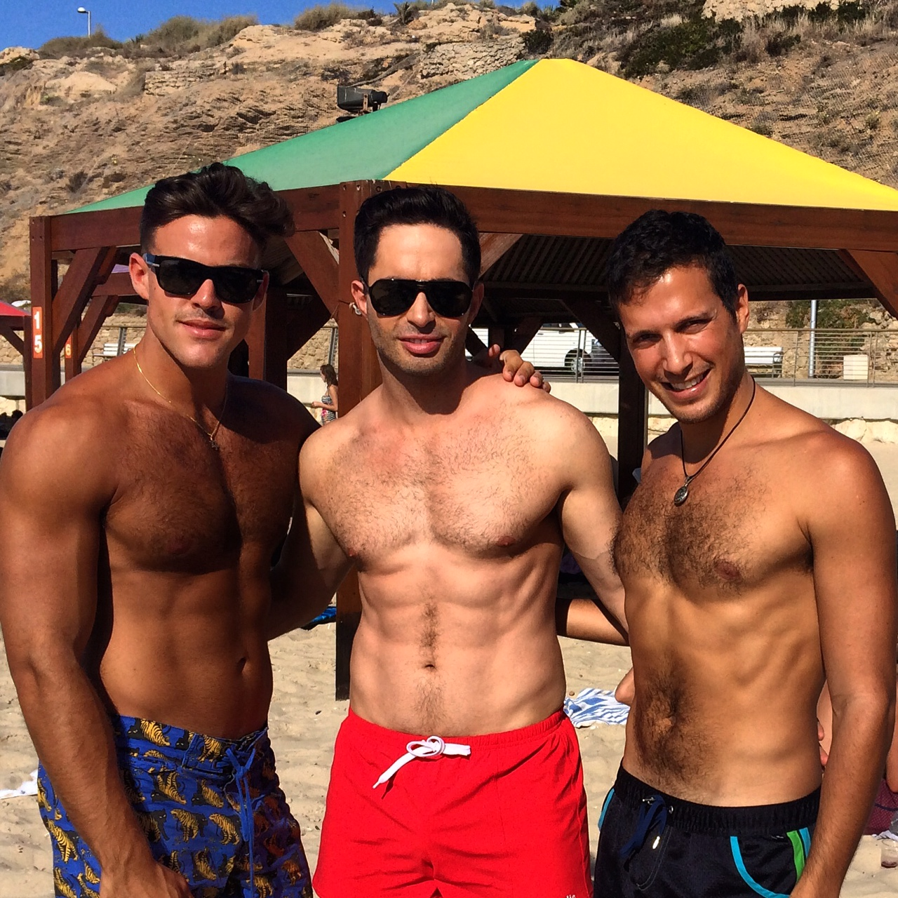 Gay Beach In Tel Aviv With My Friend Nathan And Elad