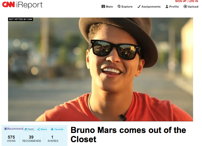 Did Bruno Mars Come Out As Gay Out Magazine