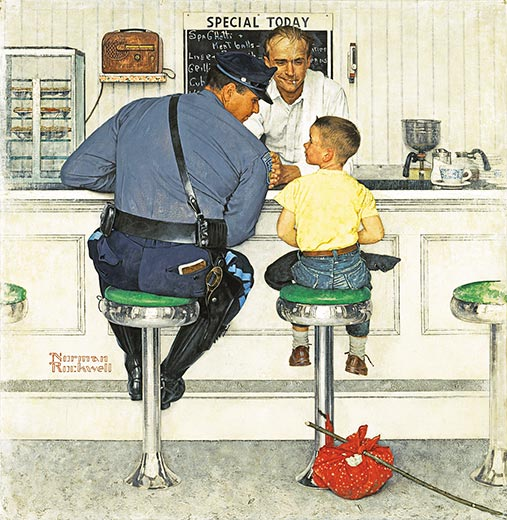 Norman Rockwell The Runaway 2