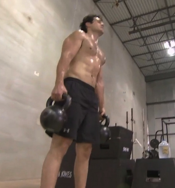 Henry Cavill Shirtless Man Of Steel Workout Bell1