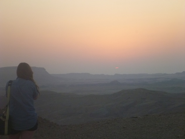 Ramon Crater Sunrise Israel Negev