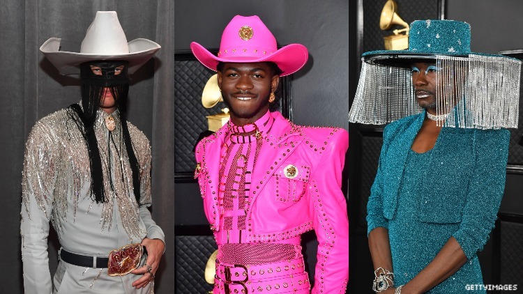 Billy Porter, Orville Peck and Lil Nas X on the red carpet.