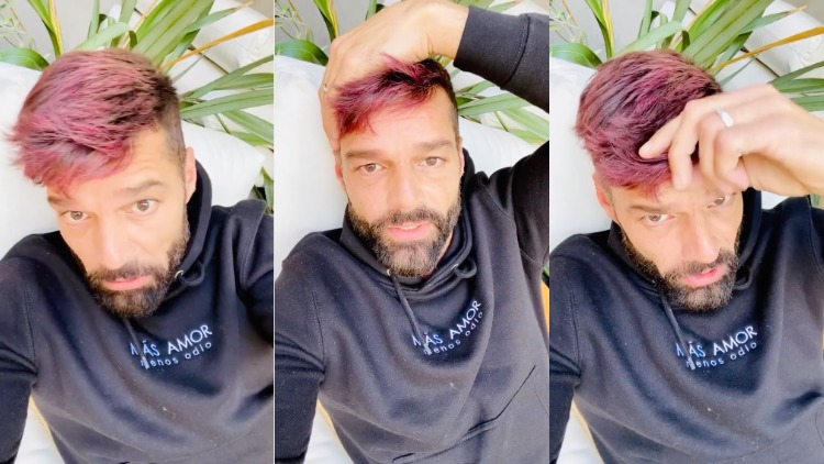 Ricky Martin died his hair red.