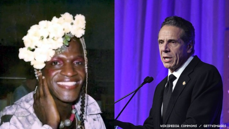 Marsha P. Johnson and Governor Andrew Cuomo