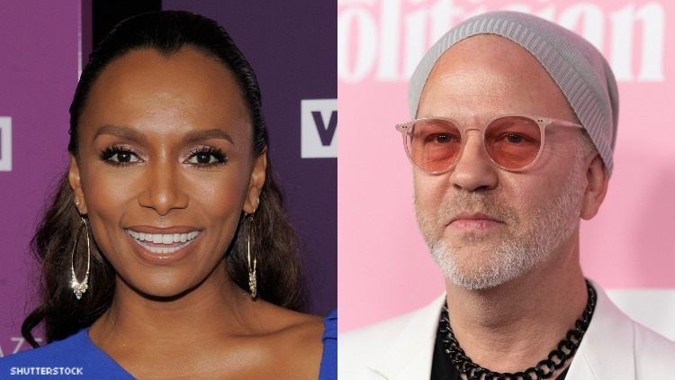 Janet Mock and Ryan Murphy on red carpets.