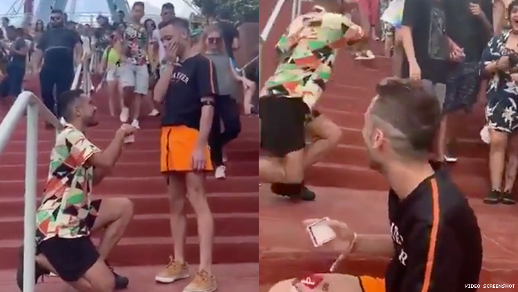 gay double proposal