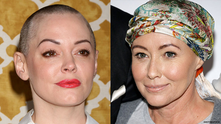 Rose McGowan and Shannen Doherty