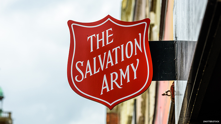 A photo of the Salvation Army sign.