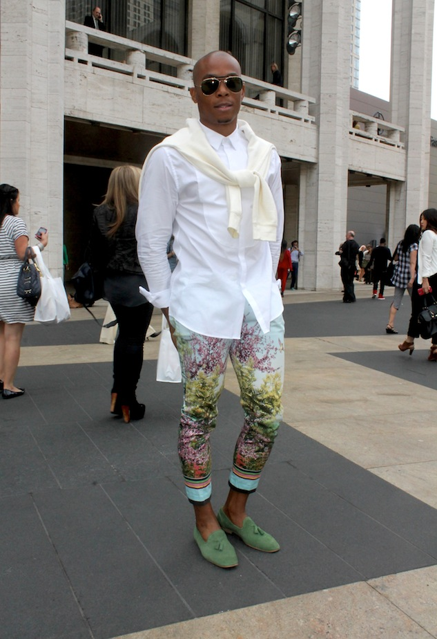 Fashion Week Street Style Color Pants Andrew Villagomez 1