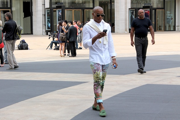 Fashion Week Street Style Color Pants Andrew Villagomez 2