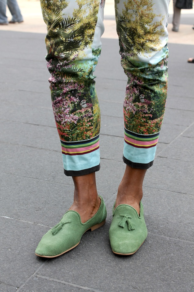 Fashion Week Street Style Color Pants Andrew Villagomez 6