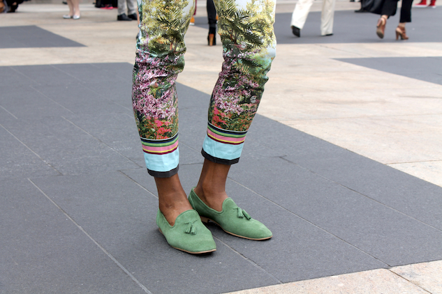 Fashion Week Street Style Color Pants Andrew Villagomez