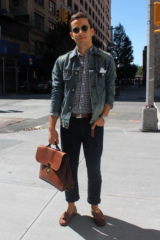 Street Style Denim Jacket Andrew Villagomez 1
