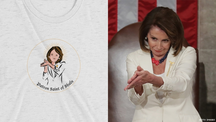 Nancy Pelosi, Please Stop Selling Your 'Patron Saint of Shade' Swag