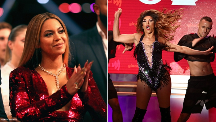 Beyonce Just Gave Shangela a Standing Ovation at the GLAAD Awards