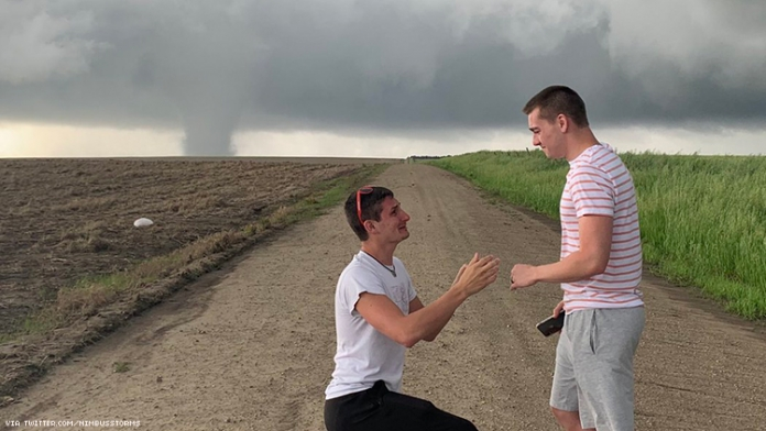 These Gays Got Engaged in Front of a Literal Tornado