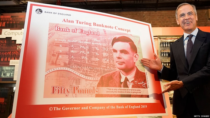 Alan Turing to Appear on England's £50 Note