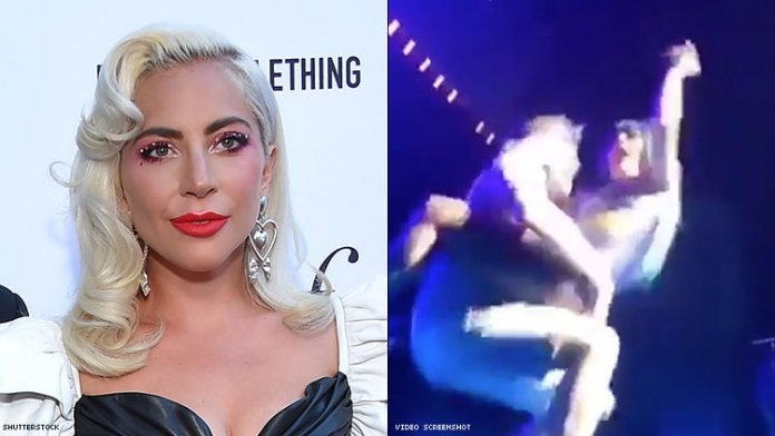 Lady Gaga Falls Off Stage in Fan's Arms During Las Vegas Show