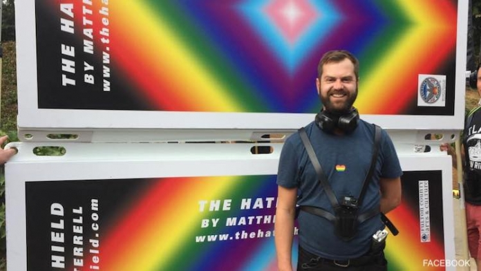 Artist Made 'Hate Shield' to Drown Out Anti-Gay Protesters at Pride