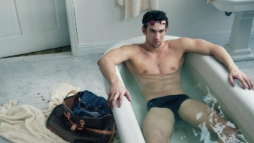 Michael Phelps Dons Speedo for Louis Vuitton