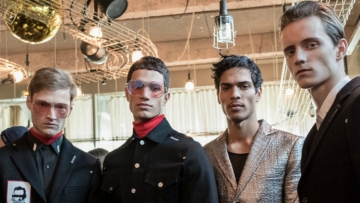 Icosae fall winter 2017 backstage models pfw