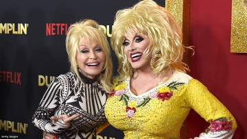 Dolly Parton's makeup does not, in fact, work a 9-5. What a way to make a livin'!