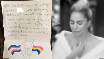 Gay Sobbing: Read This Child's Coming Out Note to Lesbian Neighbors