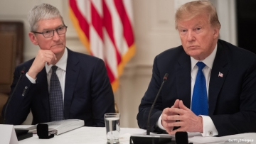 Trump and Tim Cook