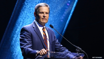 Tennessee governor Bill Lee speaking.