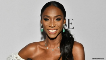 Angelica Ross on a red carpet.