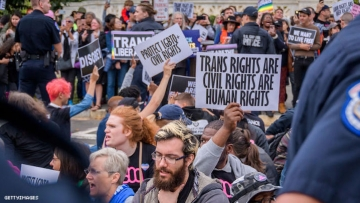 Trans protest