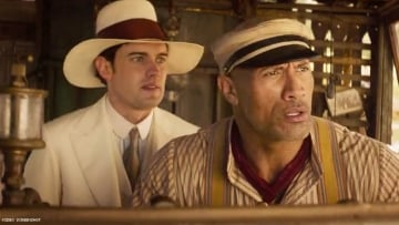 Jack Whitehall and Dwayne Johnson in 'Jungle Cruise'