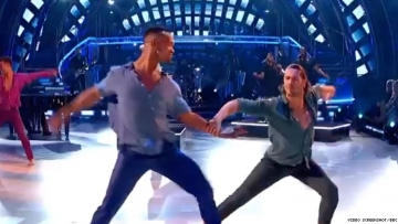 Johannes and Graziano dancing on Strictly Come Dancing.