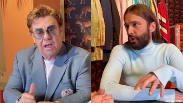 Sir Elton John and Queer Eye grooming expert Jonathan Van Ness discuss activism and the importance of supporting persons living with HIV.