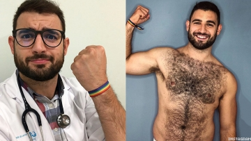 Hot and hunky Spanish doctor Francisco José Alvarado beat the coronavirus then was crowned Mr. Gay Pride 2020