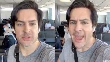 Brandon Straka, the gay self-described former liberal and founder of the #WalkAway movement, was escorted off a plane after he threw a fit when asked to wear a facemask.