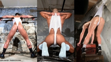 A triptych of photos of Wedgies.
